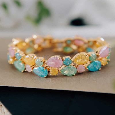 Браслет «Летнее настроение» из разноцветных циркониев