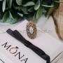 Кольцо Пион винтажное с опалом и кристаллами