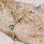 Колье-подвеска Миражи с зелеными хамелеонами Сваровски
