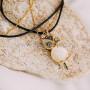Кулон «Сова» с опалом и инкрустацией камнями Сваровски
