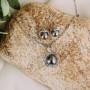 Набор «Ностальжи» с черным жемчугом и австрийскими кристаллами