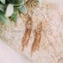 Серьги-кисточки «Судьба» с австрийскими кристаллами