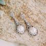 Серьги-подвески «Натали» с жемчугом и кристаллами