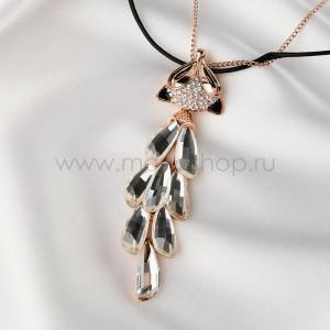 Кулон Лисица с австрийскими кристаллами