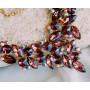 Комплект «Шоколад» с коричневыми кристаллами