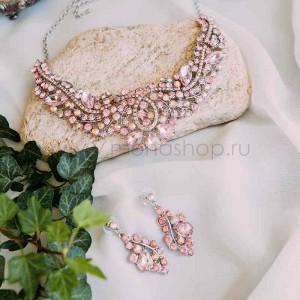 Комплект «Аура» с розовыми кристаллами