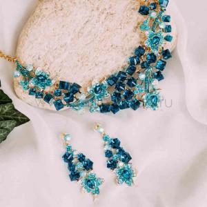 Комплект «Сказочный» с голубыми кристаллами