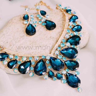 Комплект «Симфония кристаллов» с голубыми камнями