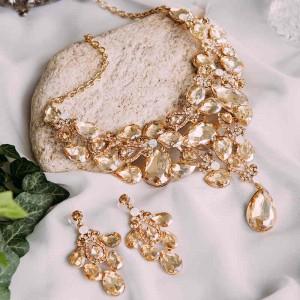 Набор «Золотая роскошь» с кристаллами цвета шампань