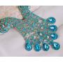 Комплект «Царица Востока» с голубыми кристаллами