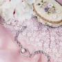 Браслет Невесомость с жемчугом и кристаллами, покрытие-родий