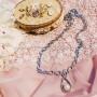 Колье Невесомость с жемчугом и кристаллами, покрытие-родий