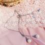 Колье Невеста с жемчугоми кристаллами