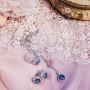 Комплект «Созвездие» с круглыми камнями-хамелеонами Сваровски