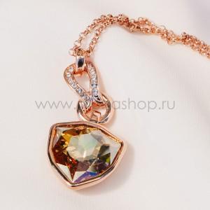 Кулон «Бермудский треугольник» с крупным кристаллом Сваровски