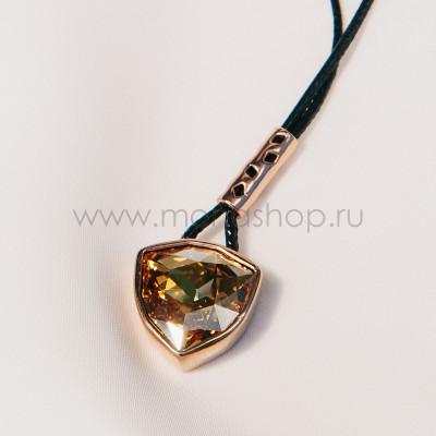 Кулон «Бермудский треугольник» с кристаллом Сваровски на шнурке
