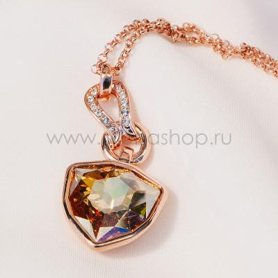 Кулон Бермудский треугольник с крупным кристаллом Сваровски