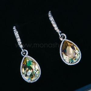 Серьги «Лунный свет» с камнями Сваровски