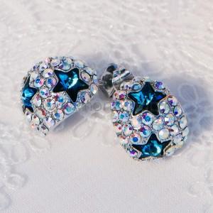 Серьги «Звездное небо» с кристаллами Сваровски