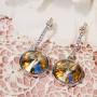 Серьги «Чародейка» на подвеске с кристаллами Сваровски цвета шампань