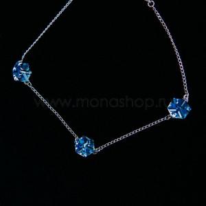 Браслет Миражи с голубыми кристаллами Swarovski