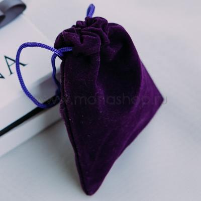 Вельветовый мешочек для украшений