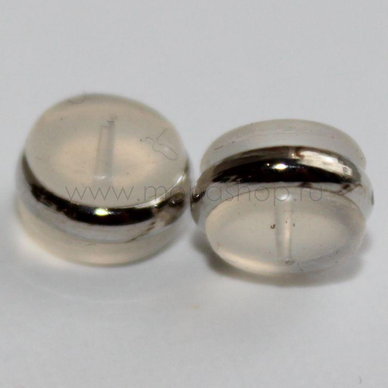 Пара силиконовых застежек для серег-гвоздиков, 6 мм от 70 руб