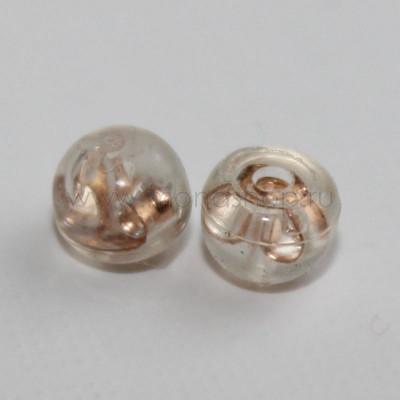 Пара малых силиконовых застежек для серег-гвоздиков, 5 мм