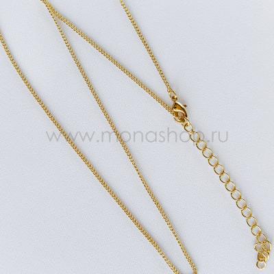Цепочка на шею, покрытие - желтое золото