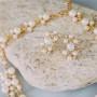 Комплект жемчужный «Нежность» с кристаллами