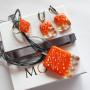 Комплект авторской бижутерии ручной работы Оранж