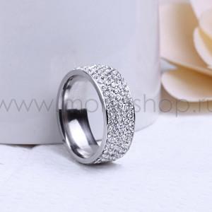 Кольцо «Сияние» из россыпи австрийских кристаллов
