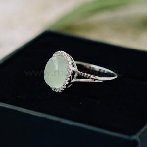 Кольцо «Монпасье» зеленое с австрийскими кристаллами
