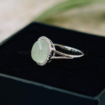 Кольцо Монпасье зеленое с австрийскими кристаллами