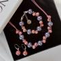 Браслет Сладкая жизнь из розовой и фиолетовой керамики