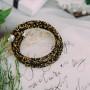 Браслет «Звездная пыль» с россыпью черных и золотых кристаллов