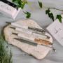 Ручка MONA белая с серыми кристаллами