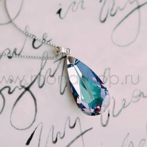 Кулон «Хамелеон» с фиолетовым камнем Сваровски