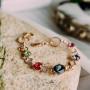 Браслет «Юнона» с разноцветными кристаллами Сваровски