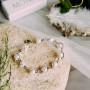 Браслет «Праздник» с белым жемчугом в завитках