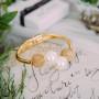 Браслет «Подарок Афродиты» с крупным жемчугом и позолотой