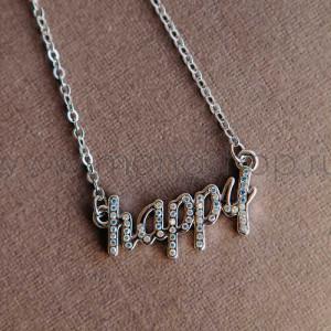 Колье «Happy» с австрийскими кристаллами-хамелеонами