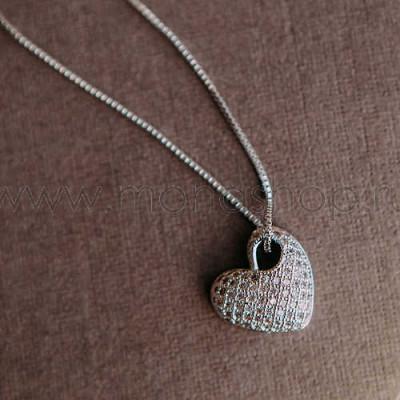 Кулон Влюбленность с сердцем-подвеской из австрийских кристаллов