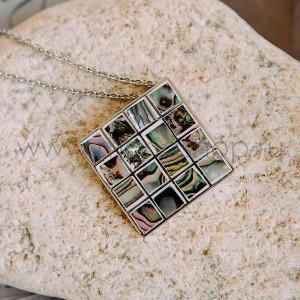Кулон «Мозаика» с перламутром и эмалью