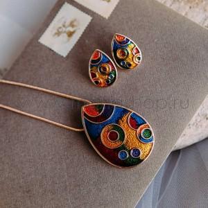 Набор украшений «Волшебство» с яркой разноцветной эмалью