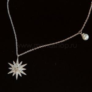 Кулон «Серебряная звезда» с фианитами