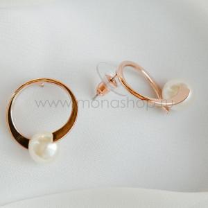 Серьги-кольца «Вьюга» с белыми жемчужинами