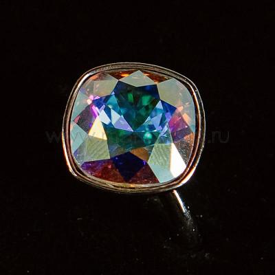 Кольцо «Чаровница» с кристаллом-хамелеоном Swarovski