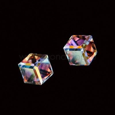 Серьги-кубики Миражи с кристаллами-хамелеонами Сваровски