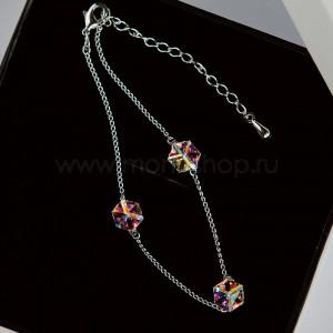 Браслет «Миражи» с кристаллами-хамелеонами Swarovski